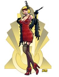 COMMISSION: 1920s flapper by Shono