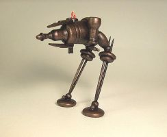 Steampunk Ray Gun Walker WOOD by buildersstudio
