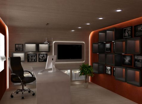 home office room by cats99