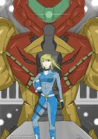 Metroid x Gundam by VialEOS