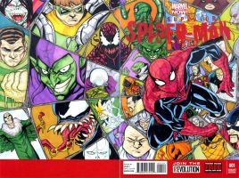 Superior Spiderman 1 Spiderman WEB sketch cover by mdavidct
