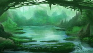 Weekly Environment 03 - Lagoon by CorbinHunter
