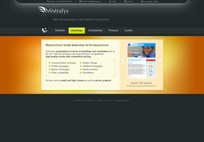 Mistralys Company Website by AeonOfTime