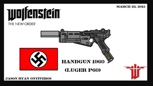 Wolfenstein The New Order (Hand gun) (Luger P60) by ImperialAce