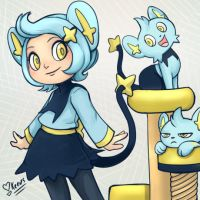 Shinx Pokemon Gijinka by keevs