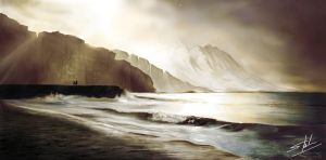 beach scene with slight improvements by Laddyshmad
