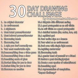 30 Day Art Challenge Reference by FluffyBunny89