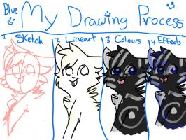 My Drawing Process by Blue-Pastels