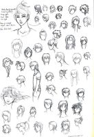 Anime hair styles by MissPinks