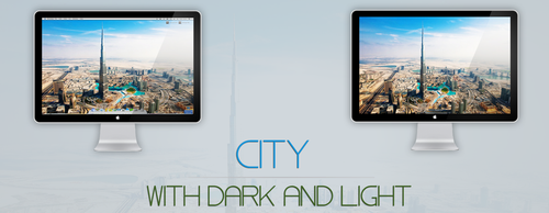 City with dark and light by delta112