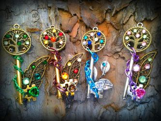 Tree of Seasons Fantasy Set by ArtByStarlaMoore