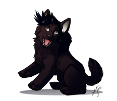 FeatherlessCrow Chibi Commission by Schmidte17