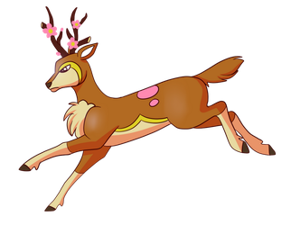 Type Collab: Sawsbuck spring Shiny by Snail-Duck