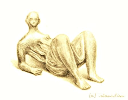 Sketch: Henry Moore - Draped Reclining Figure by shannlien