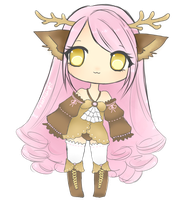 Adoptable: Pink Deer [CLOSED] by MidnightAdoptss