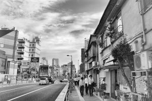 Streets of Shin-Okubo Korean Town by Pajunen