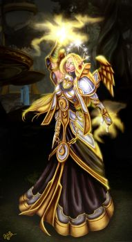 Blood Elf Priest - Maybe Done by JoJollyArt