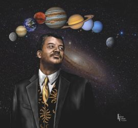 Neil DeGrasse Tyson portrait by Belote-Art