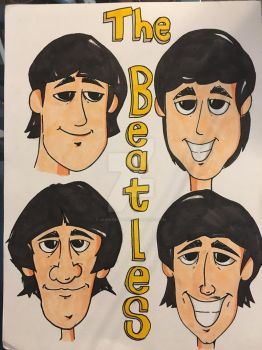 Beatles Caricature by JasonScholte