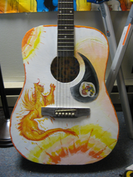 painting guitar -with creature by not-fun