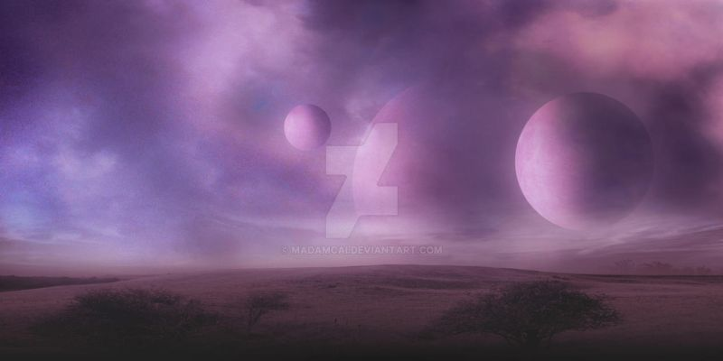Pink Planet Background