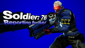 Soldier: 76 as a Super Smash Bros. Newcomer by SuperpanArts