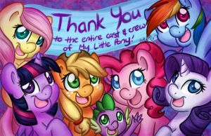 Thank You to the entire staff of My Little Pony by AbbyStarling