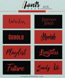 FONTS PACK. #05 by itsvenue