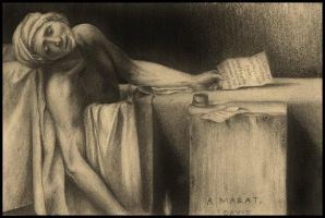 The Death of Marat by Sparkypoo