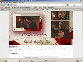 Old website design: End of Days by jadedlioness