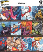 Superman  sketch cards for Cyrptozoic Ent. by JakeMinor09