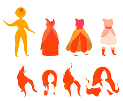 Adventure Time Flame Princess Base by SelenaEde