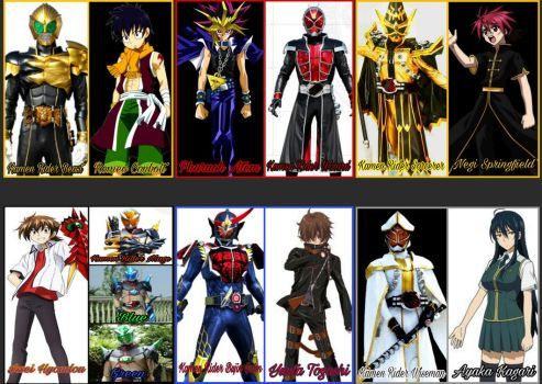Kamen Rider Wizard Portrayed by Any Characters by Tabacookie