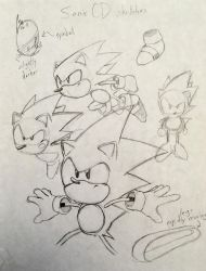 Sonic CD Character Model Study by audiobrainiac
