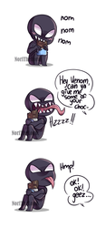 Venom's Chocolate - comic by NoriTheLord
