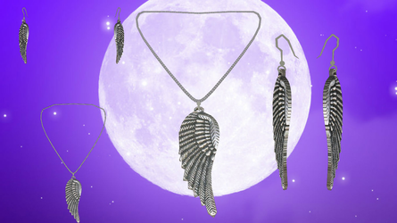 Winged Necklace and Earring Set by ninjapirate10194