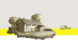The Simpsons House by Illuday