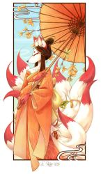Autumn Kitsune by zetallis
