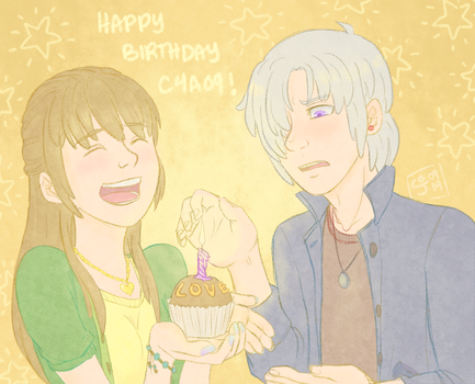 happy bday c4a09! by bloomelon