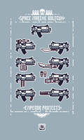 Space Marine Boltgun Pixelated X3 by TRUEvector