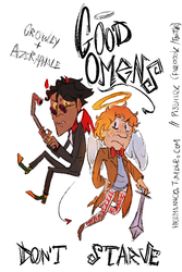 Good Omens Don't Starve Card by Pi3shark