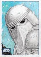 Star Wars G6 - Snowtrooper Sketch Art Card by DenaeFrazierStudios