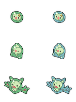 Solosis, Duosion and Reuniclus - Hi-res Icons