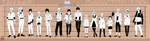 Character Height Sheet # 3 (no color) by tahonard