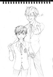 Ouran High School Host Club - Tamaki x Haruhi by Tanbakudan
