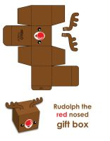 Merry Xmas Rudolph Gift Box by hellohappycrafts