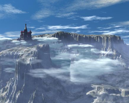 Castle in the mountains by newyorkino89