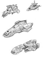 some spaceship drawings by alexvontolmacsy