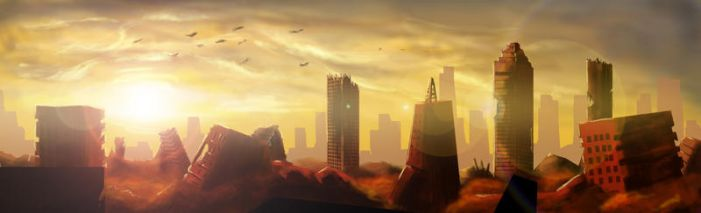Skyline of ruins by Aon616