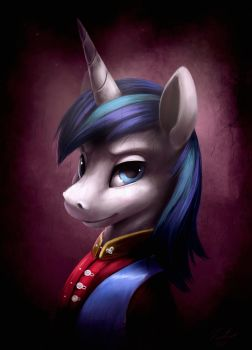 Shining Armor_Portrait by Tsitra360